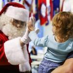 Santa high five